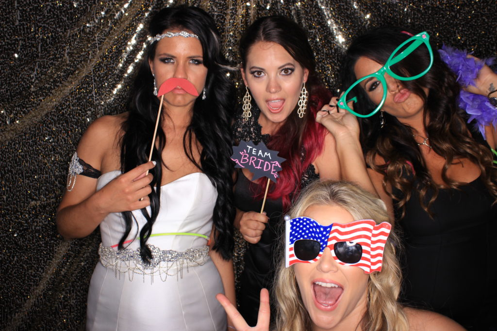photo from a wedding photo booth making for a great ice breaker